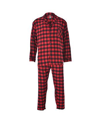 Hanes Мужской большой и высокий фланелевый пижамный комплект в клетку Hanes Platinum