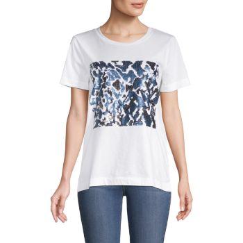Sequined T-Shirt Donna Karan