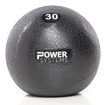 Power Systems Premium Slam Exercise Ball Prime Training Weight, 4 Pounds, Gray Power Systems
