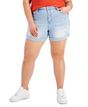 Модные рваные джинсовые шорты больших размеров Dollhouse