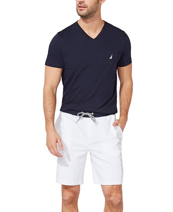 Men's Fleece Knit Logo Shorts Nautica