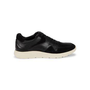 Leather & Suede Sneakers Allen Edmonds