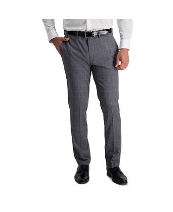 Stretch Windowpane Slim Fit Плоский передний костюм Отдельные брюки Louis Raphael