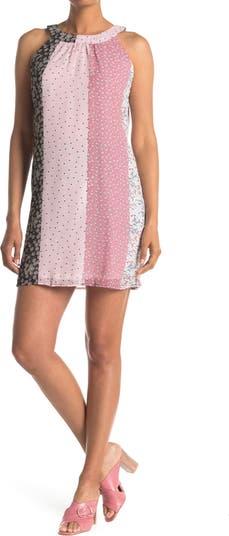 Платье прямого кроя без рукавов со смешанным принтом Papillon
