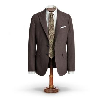 Houndstooth Wool Suit Jacket Ralph Lauren