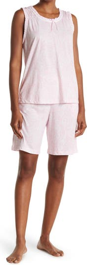 Tank Top & Bermuda Shorts 2-Piece Pajama Set Carole Hochman