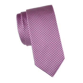 Шелковый галстук в клетку BOSS Hugo Boss