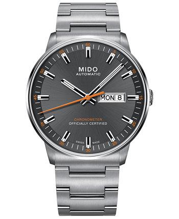 Мужские часы Swiss Automatic Commander II Cosc с браслетом из нержавеющей стали 40 мм MIDO