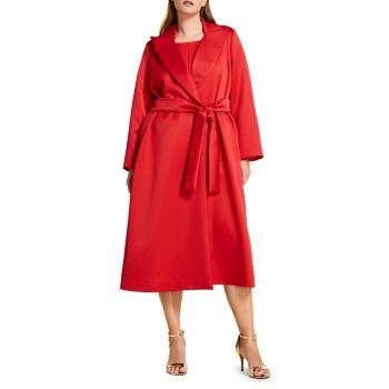 Пальто из твила с поясом Marina Rinaldi, Plus Size