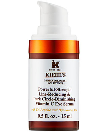 Мощная темная круглая сыворотка для глаз с витамином С, 0,5 унции. Kiehl's Since 1851