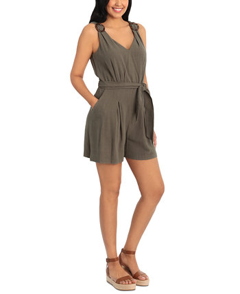 Petite Belted Romper London Times