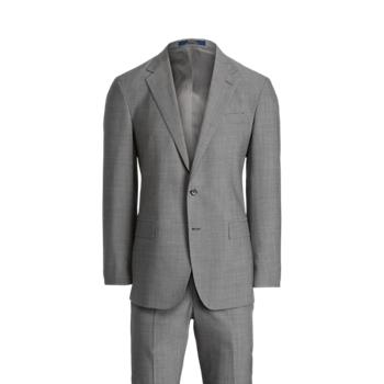 Шерстяной костюм в горошек в горошек с поло Ralph Lauren