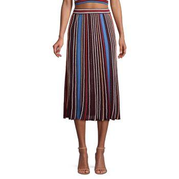 Трикотажная юбка-миди в полоску M Missoni