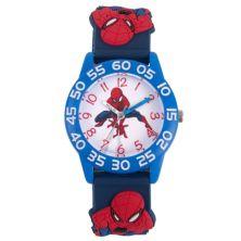 Детские синие пластиковые часы для учителя времени Marvel Spider-Man Marvel