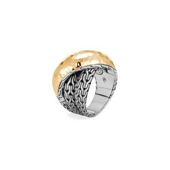 Классическая цепочка из 18-каратного золота & amp; Кольцо-кроссовер из стерлингового серебра JOHN HARDY