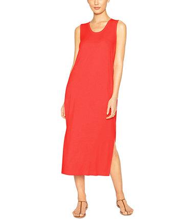 Платье без рукавов с разрезом по бокам B new york