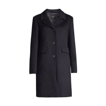Шерстяное пальто Desy Doppio с драпировкой Weekend Max Mara
