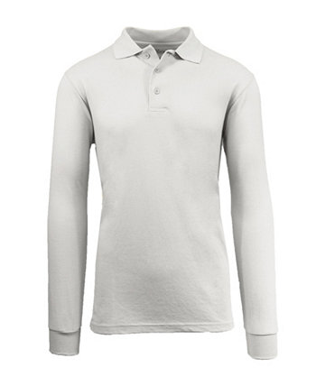 Мужская рубашка-поло из пике с длинным рукавом Galaxy By Harvic