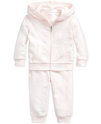 Набор французских махровых штанов и штанов Baby Girls Ralph Lauren