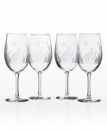 Универсальный бокал для вина Heron 18 унций - набор из 4 бокалов Rolf Glass