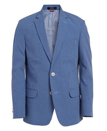 Куртка Big Boys из тонкой хлопчатобумажной ткани в мелкую клетку Tommy Hilfiger