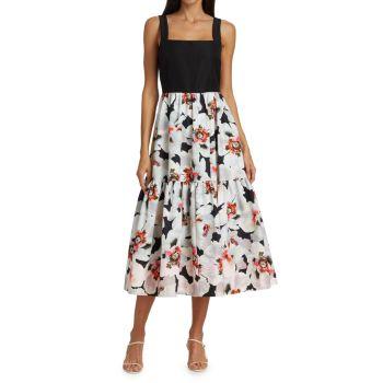 Миди-платье Gia с цветочным принтом Tanya Taylor