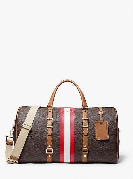 Очень большая сумка Weekender в полоску с логотипом Bedford Travel Michael Kors