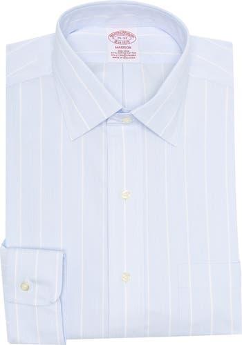 Классическая рубашка стандартного кроя с принтом в тонкую полоску Brooks Brothers