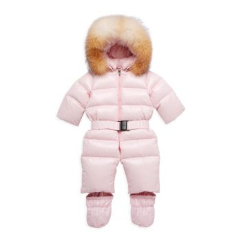 Снежный комбинезон Baby Girl's Snowbunny Down Fox Fur Sam.