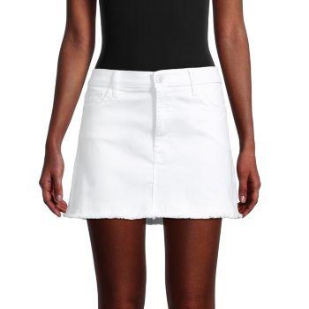 Яркая джинсовая мини-юбка Hudson
