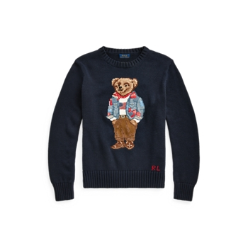 Хлопковый свитер Bandanna Polo Bear Ralph Lauren
