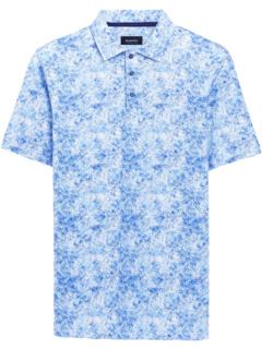 Рубашка-поло с тремя пуговицами Olivier Ooohcotton Tech Performance с абстрактным принтом BUGATCHI