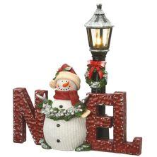 National Tree Company Light-Up Snowman & Lamppost Christmas Table Decor National Tree Company