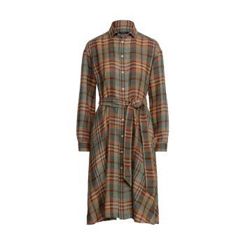 Платье-рубашка из пашмины с завязками на талии Polo Ralph Lauren