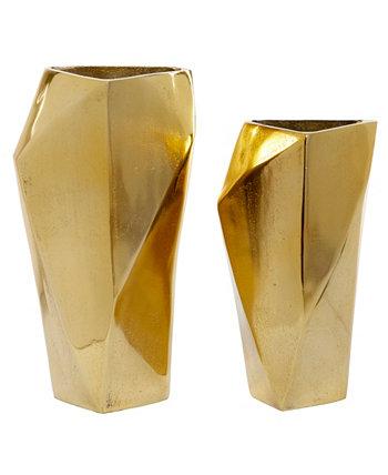 """Коллекционный набор из 2 серебряных алюминиевых современных ваз, 14 """", 12"""" Venus Williams"""