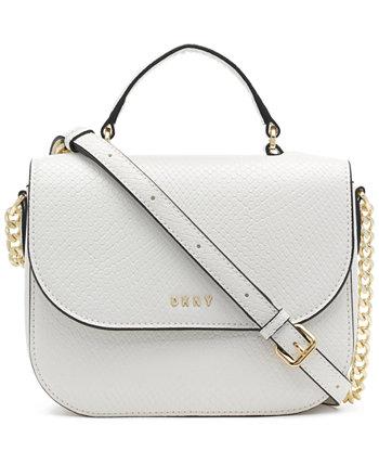 Кожаная сумка через плечо с большой ручкой сверху Felica DKNY