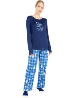 Вязаный пижамный комплект с носками Dog Mama HUE