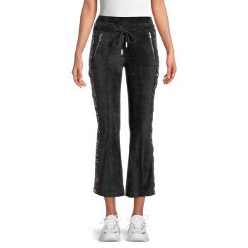 Расклешенные брюки с пайетками The Kooples