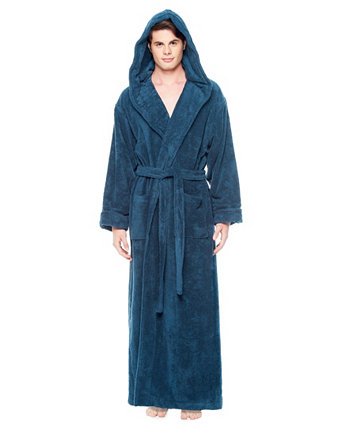 Мужская толстая полная лодыжка с капюшоном турецкого хлопкового халата ARUS
