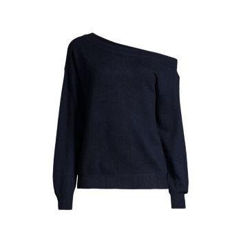 Кашемировый свитер с открытыми плечами Minnie Rose