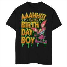 Футболка для мальчиков 8-20 Nickelodeon Ahh Real Monsters с рисунком на день рождения для мальчика Nickelodeon