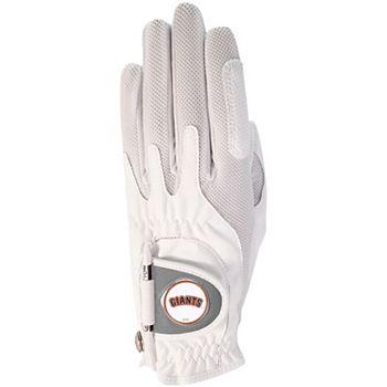 Women's White San Francisco Giants Left Hand Golf Glove & Ball Marker Unbranded