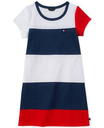 Платье для девочек из джерси с цветными блоками Tommy Hilfiger