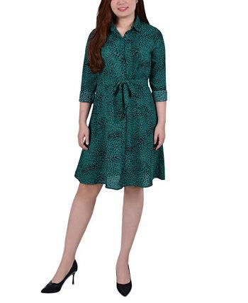 Женское платье-рубашка с поясом NY Collection
