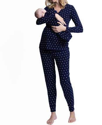 Пижамы для беременных, сумка для младенцев, комплект нижнего белья и шапочки Blooming Women by Angel