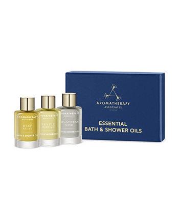 Эфирное масло для ванн и душа для путешествий и подарочный набор по 3, 9 мл каждый Aromatherapy Associates