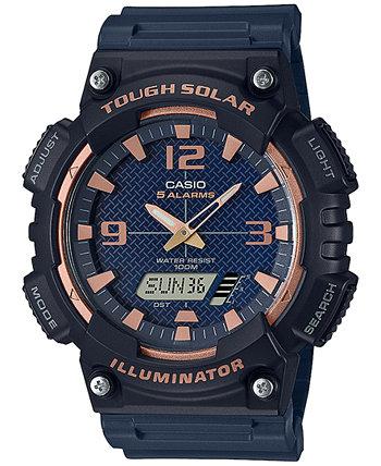 Мужские аналогово-цифровые часы с черным полимерным ремешком, 46,6 мм Casio