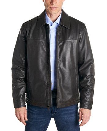 Мужская классическая кожаная куртка Perry Ellis