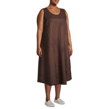 Sleeveless Organic Linen Dress Eileen Fisher