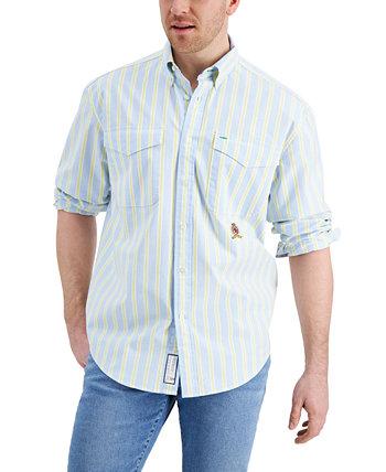 Мужская рубашка в полоску из стретч-текса Iconic Re-Issue TH Flex Tommy Hilfiger